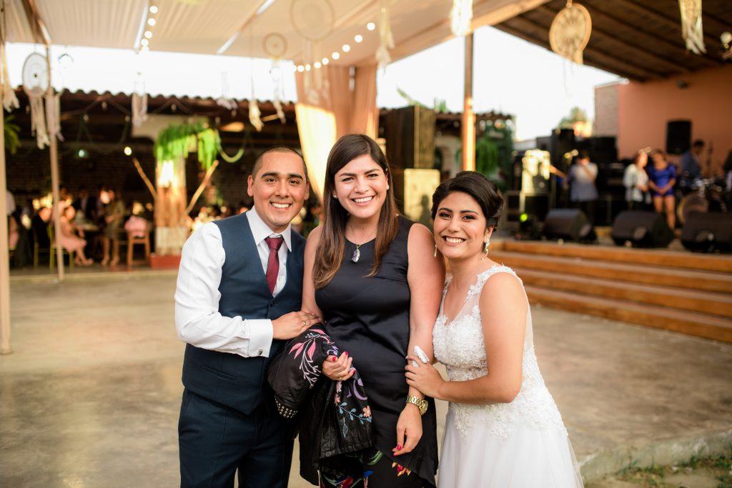Susana Morales y su equipo de trabajo. Boda de Claudia y Branco