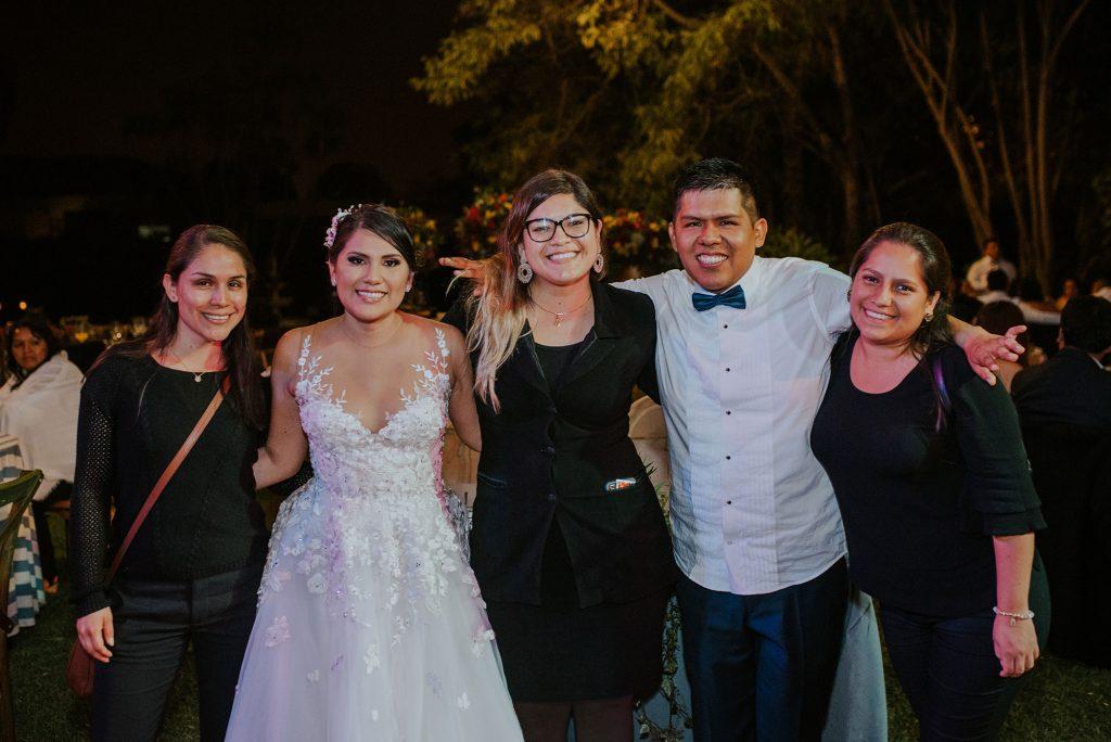 Susana Morales y su equipo de trabajo - Boda de Giuli y Roger 2019